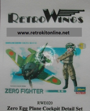 RWE020 Zero Fighter Cockpit Detail Set RetrokiT