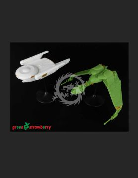 08219-1_1000 U.S.S. Grissom & Klingon Bird of Prey 1/1000 greenstrawberry