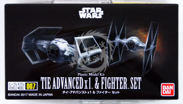 Tie Advanced x1 & Fighter Set kit 1/144 Bandai