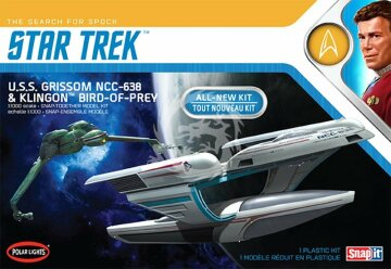 U.S.S. Grissom NCC-638 i Klingon Bird-of-Prey (2pack) - Polar Lights 957 1/1000