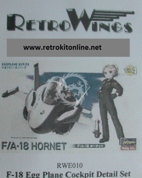 RWE010 F-18 Hornet Cockpit Detail Set RetrokiT