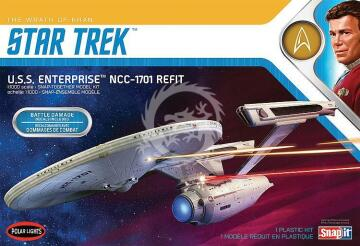 USS Enterprise NCC-1701 Refit - Star Trek The Wrath of Khan - Polar Lights POL974M/12 1/1000