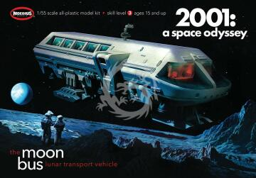 The Moon Bus Lunar transport vehicle - 2001 a space odyssey Moebius 2001 skala 1/55