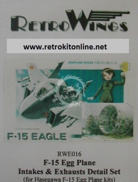 RWE016 F-15 Eagle Intakes & Exhaust Cans RetrokiT