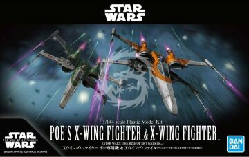 Poe's X-Wing & X-Wing The Rise of Skywalker Bandai skala 1/144