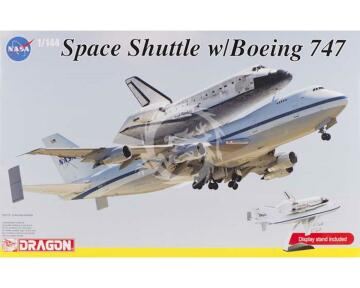 Boeing 747-100 SCA & NASA Space Shuttle Discovery - Dragon 14705 skala 1:144