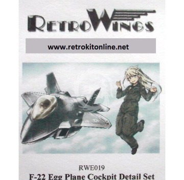 RWE019 F-22 Raptor Cockpit Detail Set RetrokiT