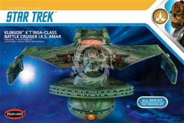 Klingon K'Tinga-Class Battle Cruiser I.K.S. Amar - Polar Lights 950/POL950 1/350