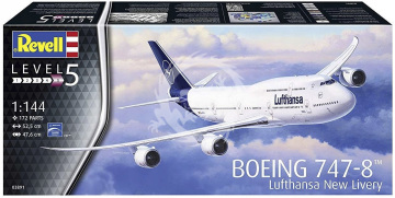 Boeing 747-8 Lufthansa new Livery revell 03891 1/144