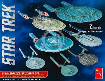 U.S.S. Enterprise Star Trek Model Set AMT 954 skala 1/2500